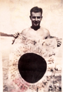 John S. Moses with captured flag